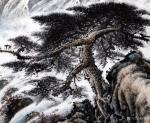 罗树辉日志-再画四尺整纸国画山水苍松《天寿图》。   石- -是女娲补【图2】