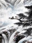 罗树辉日志-再画四尺整纸国画山水苍松《天寿图》。   石- -是女娲补【图4】