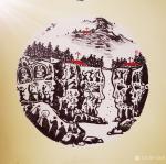 马培童日志-焦墨画创新作品《人面新岩画》创作介绍(二)   科学揭秘人【图1】
