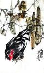甘庆琼日志-甘庆琼庚子年冬月国画写意花鸟画新作《田园趣》《村头》《远瞻》【图1】