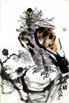 甘庆琼日志-甘庆琼庚子年冬月国画写意花鸟画新作《田园趣》《村头》《远瞻》【图3】