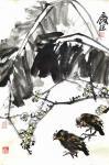 甘庆琼日志-甘庆琼庚子年冬月国画写意花鸟画新作《田园趣》《村头》《远瞻》【图4】