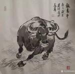 刘建国日志-迎牛年,画春牛,国画《报春牛》系列作品,庚子年冬月刘建国原创【图1】