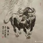 刘建国日志-迎牛年,画春牛,国画《报春牛》系列作品,庚子年冬月刘建国原创【图4】