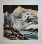 陈刚日志-天寒地冻,画室也去不了,只好在家里画一些国画扇面,共赏之。【图3】
