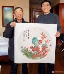 刘文生藏宝-牛年新春作国画花鸟画《平安长寿》《竹兰并茂》, 以文会友,【图2】