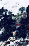 龚光万日志-国画写意山水画新作《雨过碧溪,云护仙宫》,作品尺寸69.13【图3】