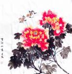 李万勤日志-国画花鸟画牡丹作品5幅《唯有牡丹真国色》《国色天香》《吉祥如【图3】
