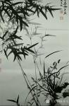 陈其飞日志-国画竹子兰草,名称《春风浩荡》,辛丑年春月陈其飞画竹; 路【图1】