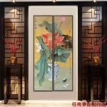任燕日志-国画工笔画荷花《一堂和气》《荷香》,作品尺寸八尺对开248X【图4】
