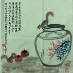 石广生日志-国画写意画《寻香喜得一瓮酒》,辛丑年春月石广生画。潮州捎此酒【图1】