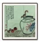 石广生日志-国画写意画《寻香喜得一瓮酒》,辛丑年春月石广生画。潮州捎此酒【图2】