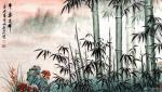 刘文生日志-国画花鸟画竹子《竹报平安》《平安吉祥》,辛丑年春月北石山人(【图2】