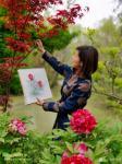 罗虹明生活-方彩植物园真的很美,每个角落都是一幅画。春日,携友踏青写生。【图4】