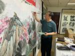 高显惠日志-国画花鸟画荷花《金玉满堂和气致祥》,作品尺寸364X130C【图4】