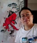 何学忠日志-国画人物画钟馗《神威图》,百馗楼主人辛丑年夏月画于古凉州。【图3】