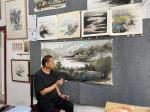 陈刚日志-国画山水画《雨后芙蓉山》; 吃着保定驴肉火烧,画着楠溪江的【图3】