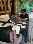 刘晓宁日志-香香《自由自在》画展,现场画画是一种享受,也是和人沟通最好的【图4】