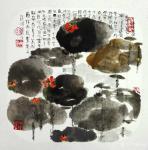 赵承锐日志-国画花鸟画水墨荷花小品《舒卷有余情》《绿叶轻摇水面风》,辛丑【图2】