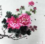 李同辉日志-国画花鸟画牡丹《香韵》,作品尺寸四尺斗方68X68CM,辛丑【图1】