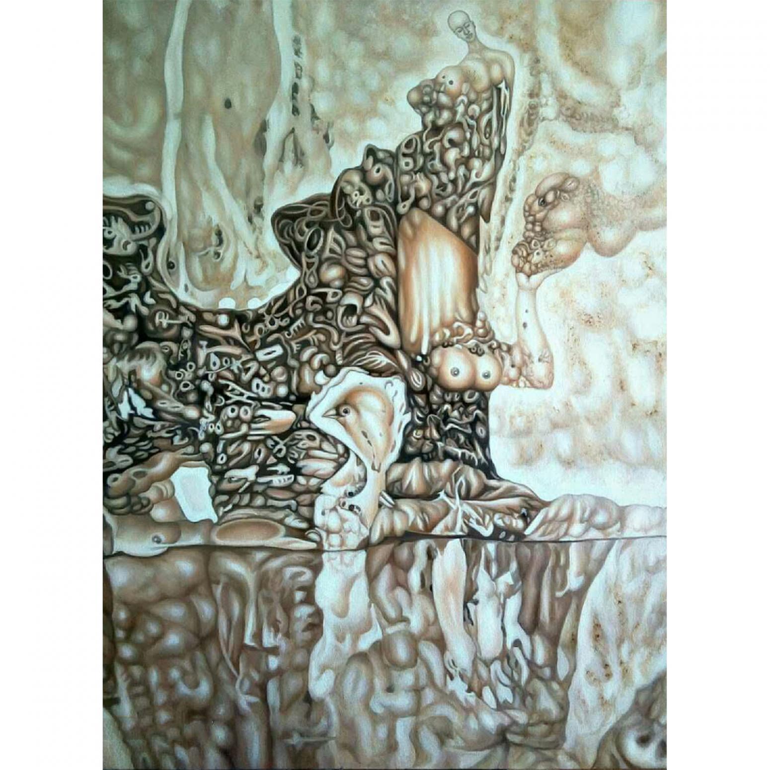 雷寿平油画作品《【世纪神话二】作者雷寿平》