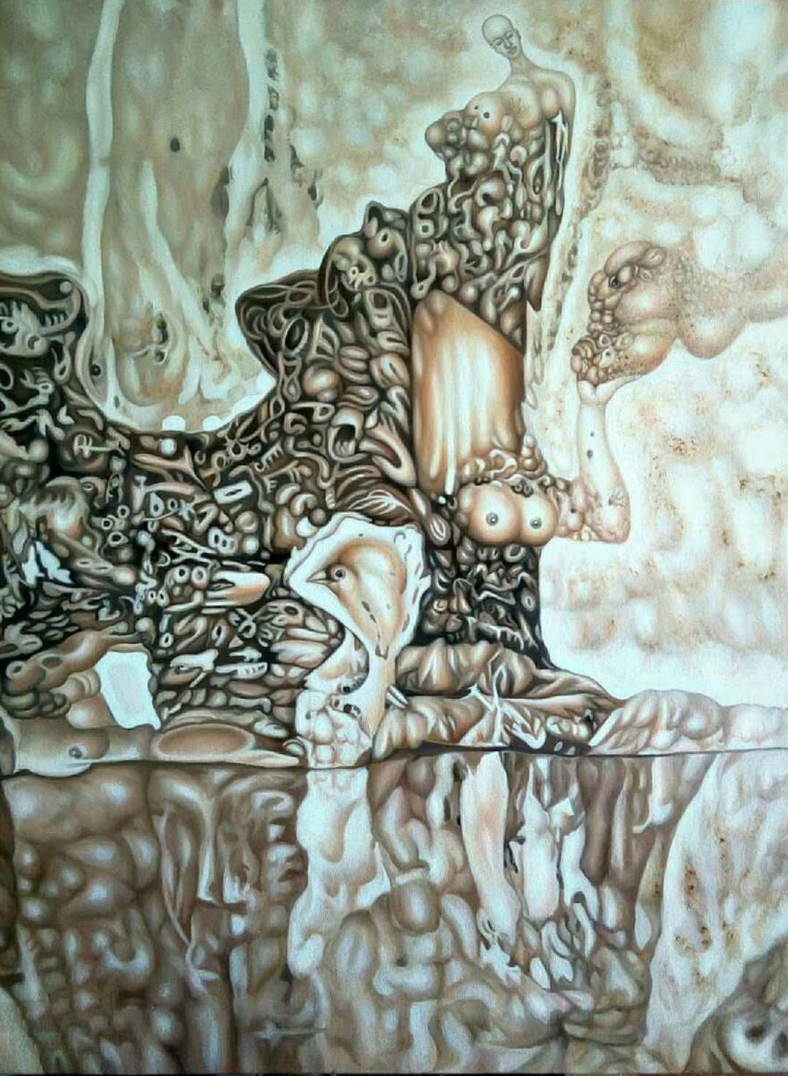 雷寿平油画作品《【世纪神话二】作者雷寿平》【图0】