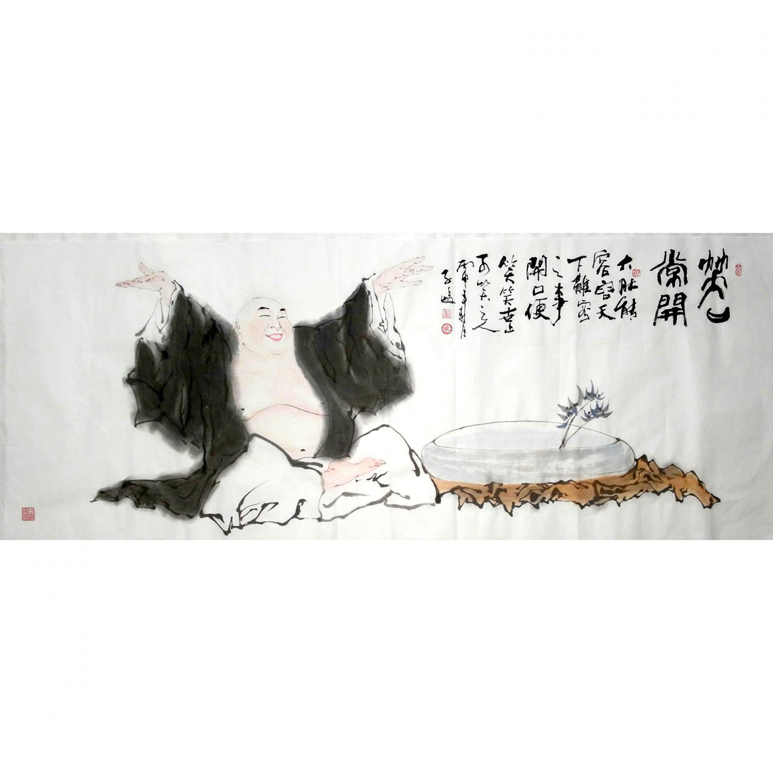 柳子峻国画作品《【笑口常开】作者柳子峻》