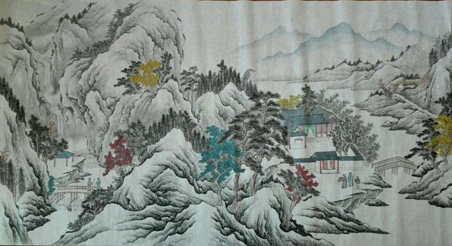 陈奇培国画作品《【拜访】作者陈奇培 临摹》【图0】