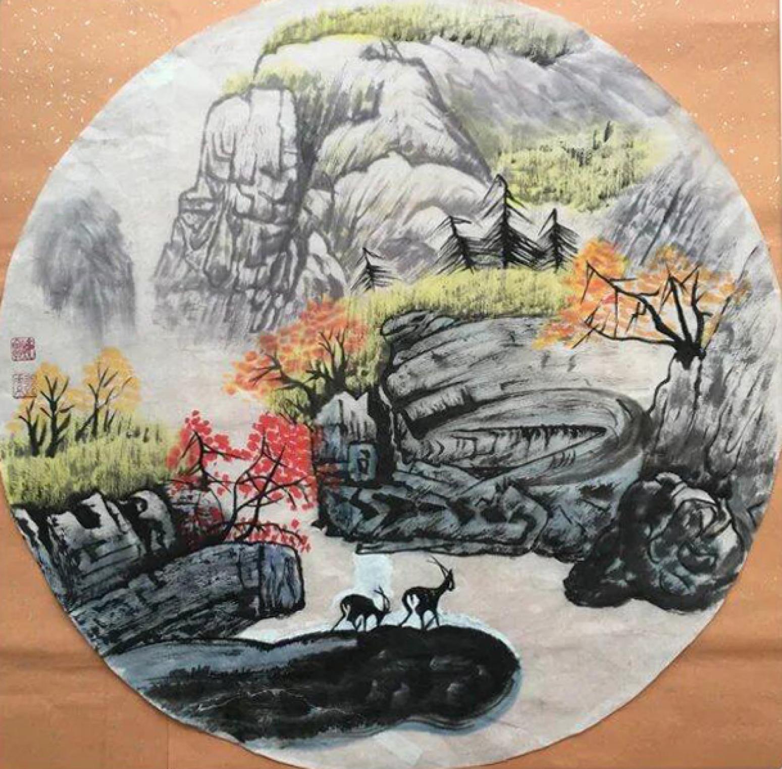 吴春田国画作品《【山水31】作者吴春田》【图0】