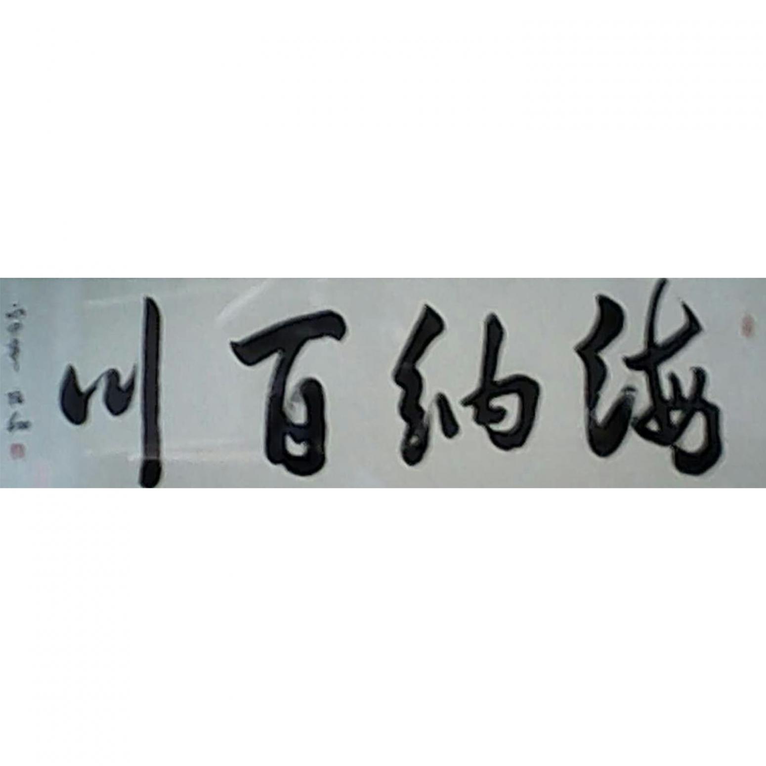 张翔书法作品《【海纳百川】作者张翔》