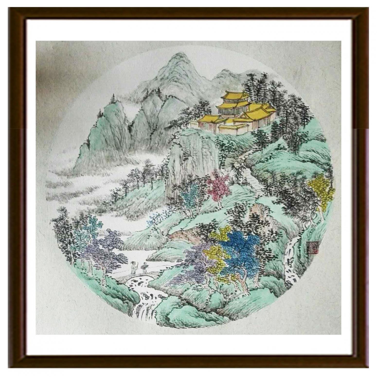 陈奇培国画作品《【圆形软卡】作者陈奇培 临摹》【图2】
