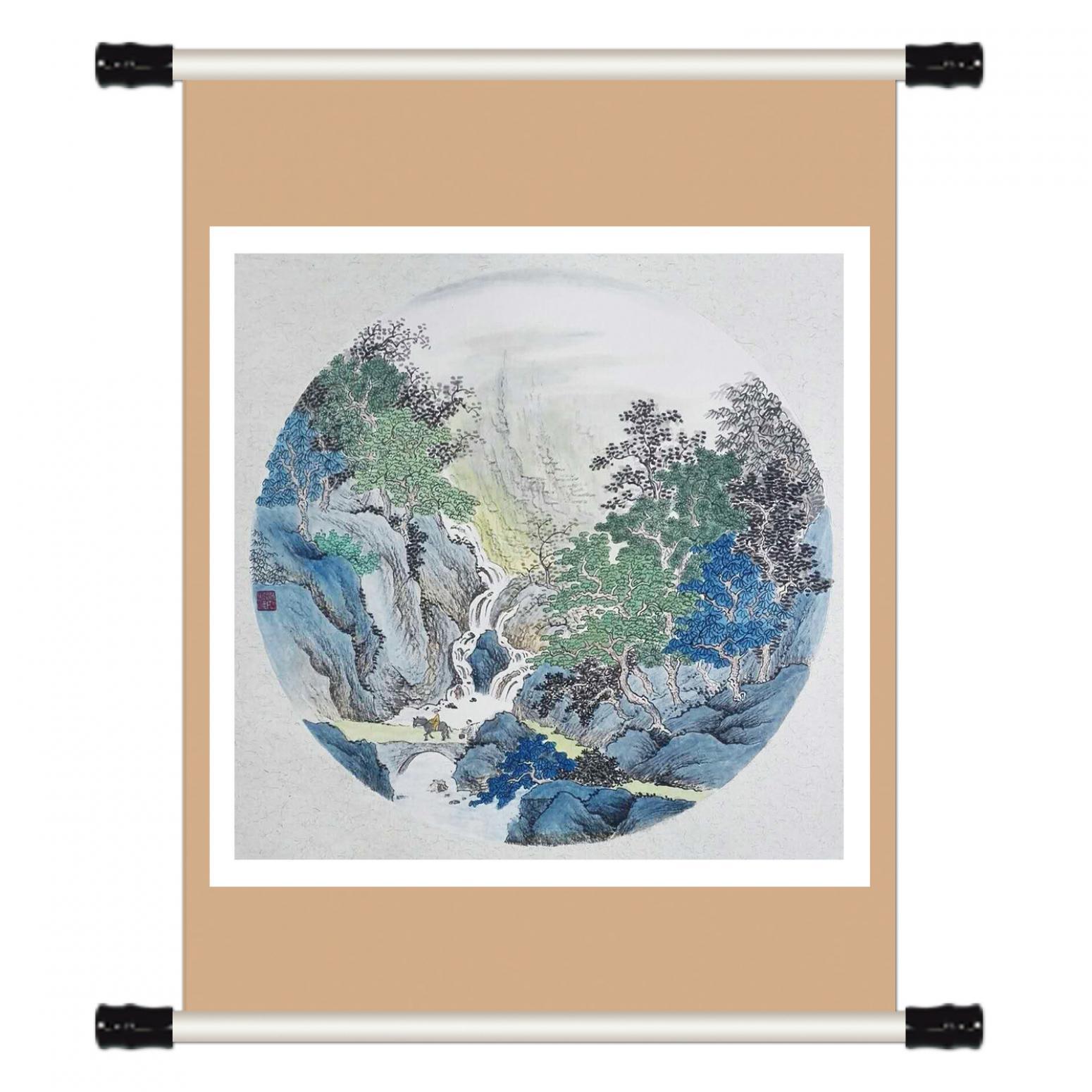 陈奇培国画作品《【圆形软卡】作者陈奇培 临摹》【图1】
