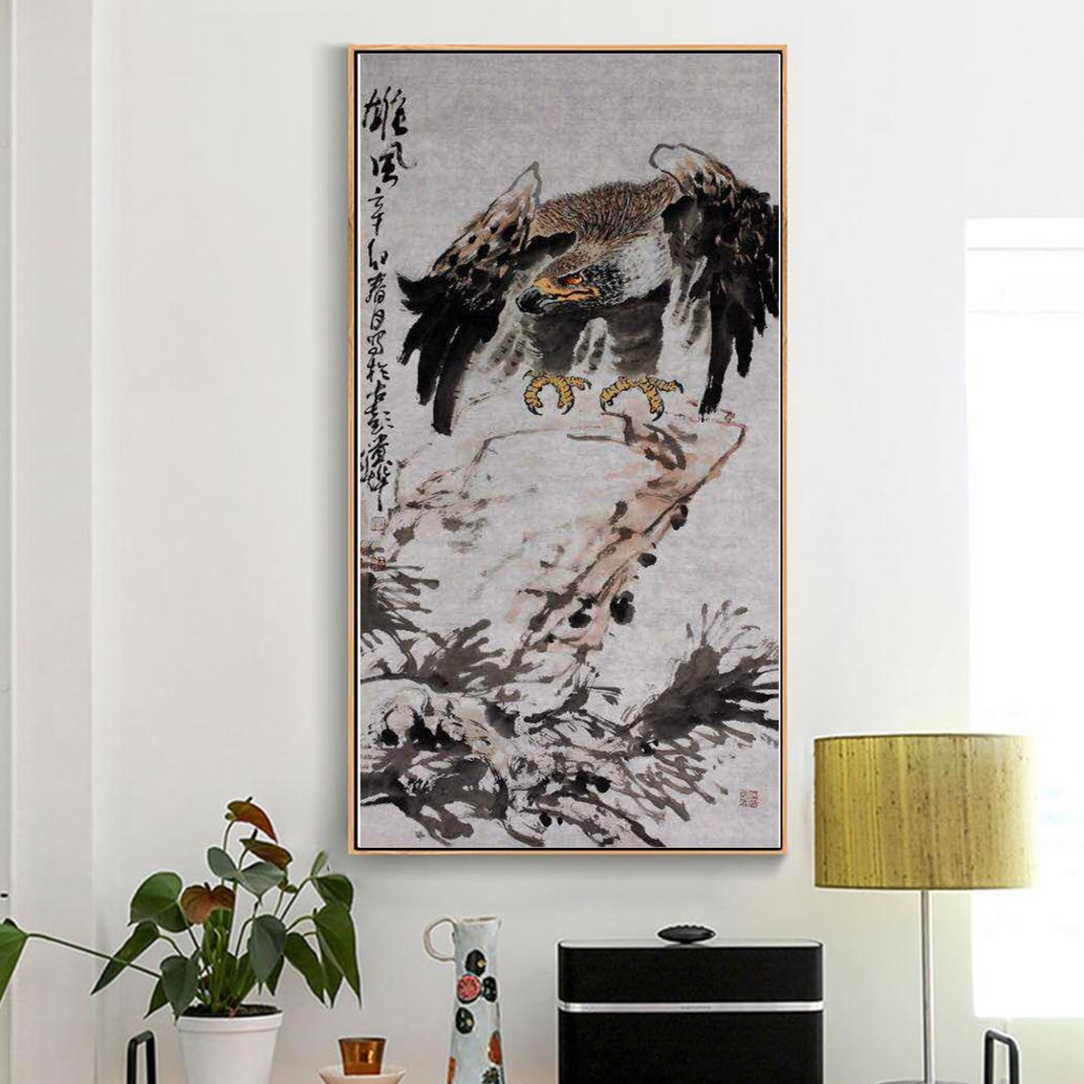 王贵烨国画作品《【雄风】作者王贵烨》【图3】