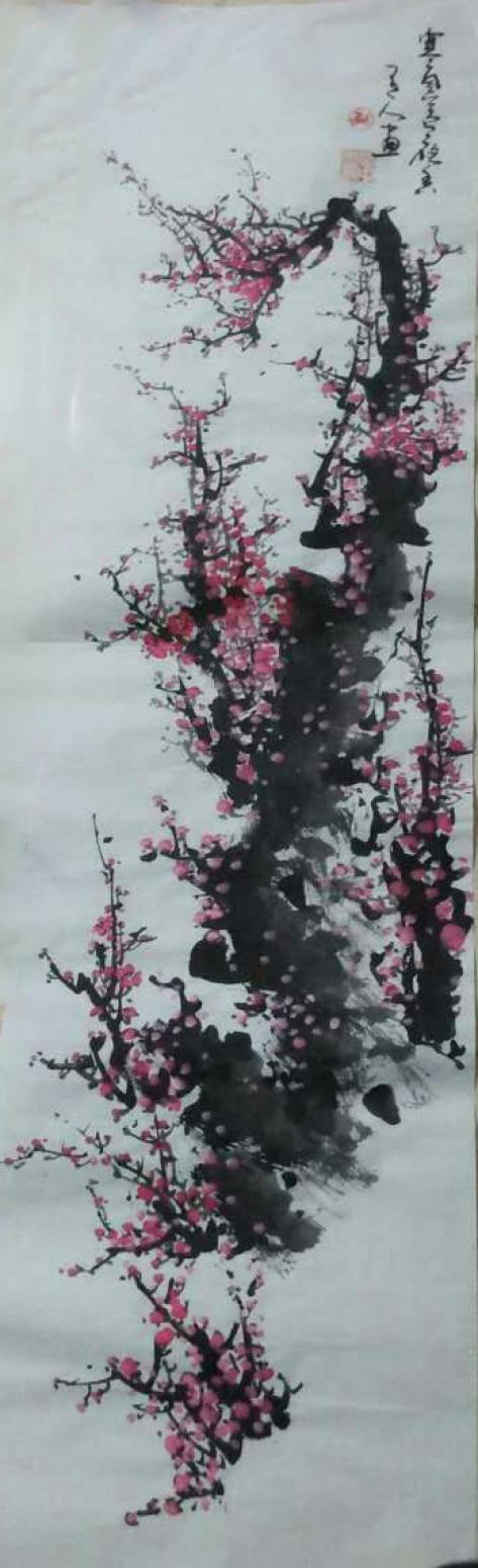 马晓中国画作品《【梅花3】作者马晓中》【图0】