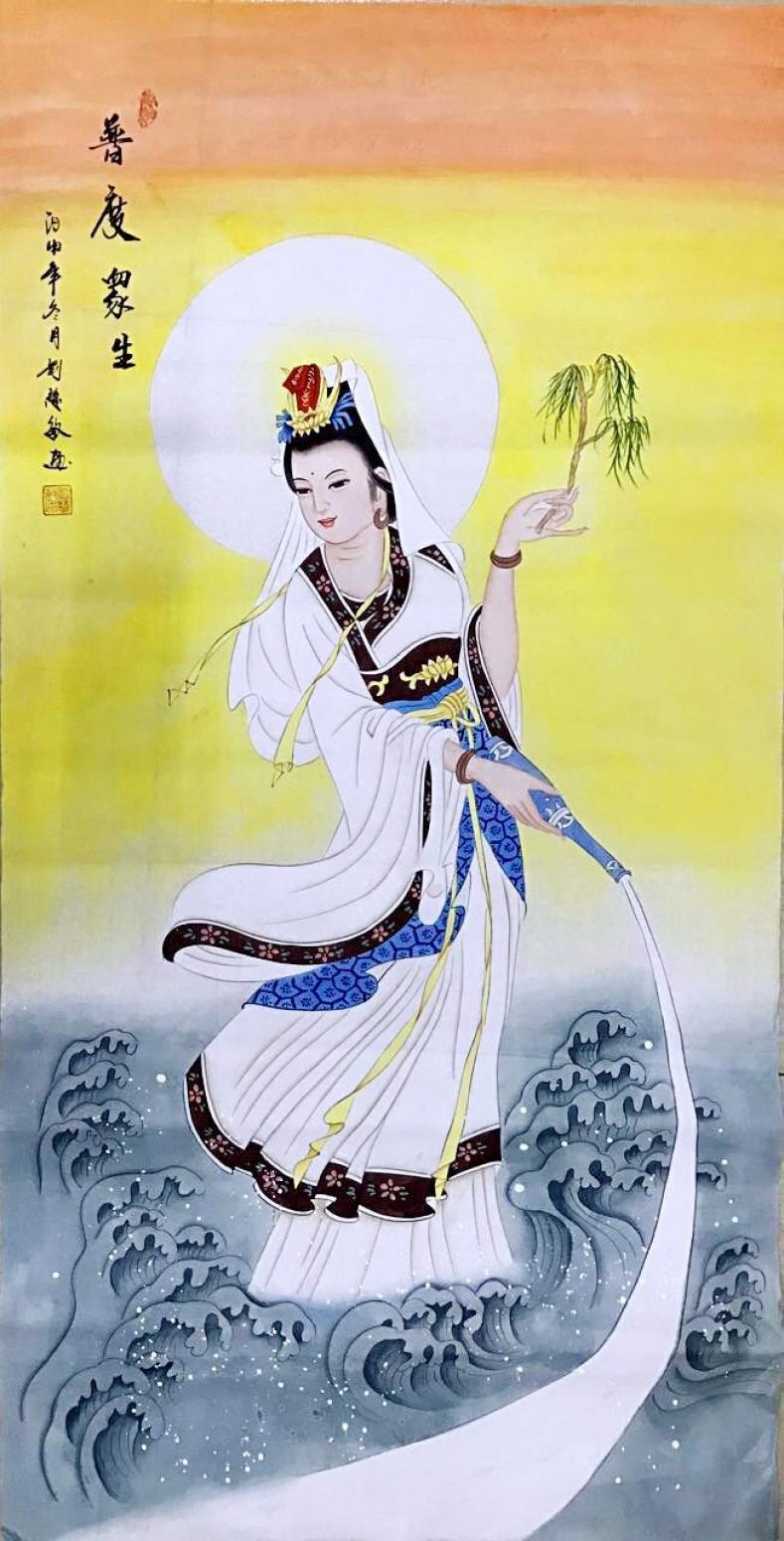 刘慧敏国画作品《普度众生》