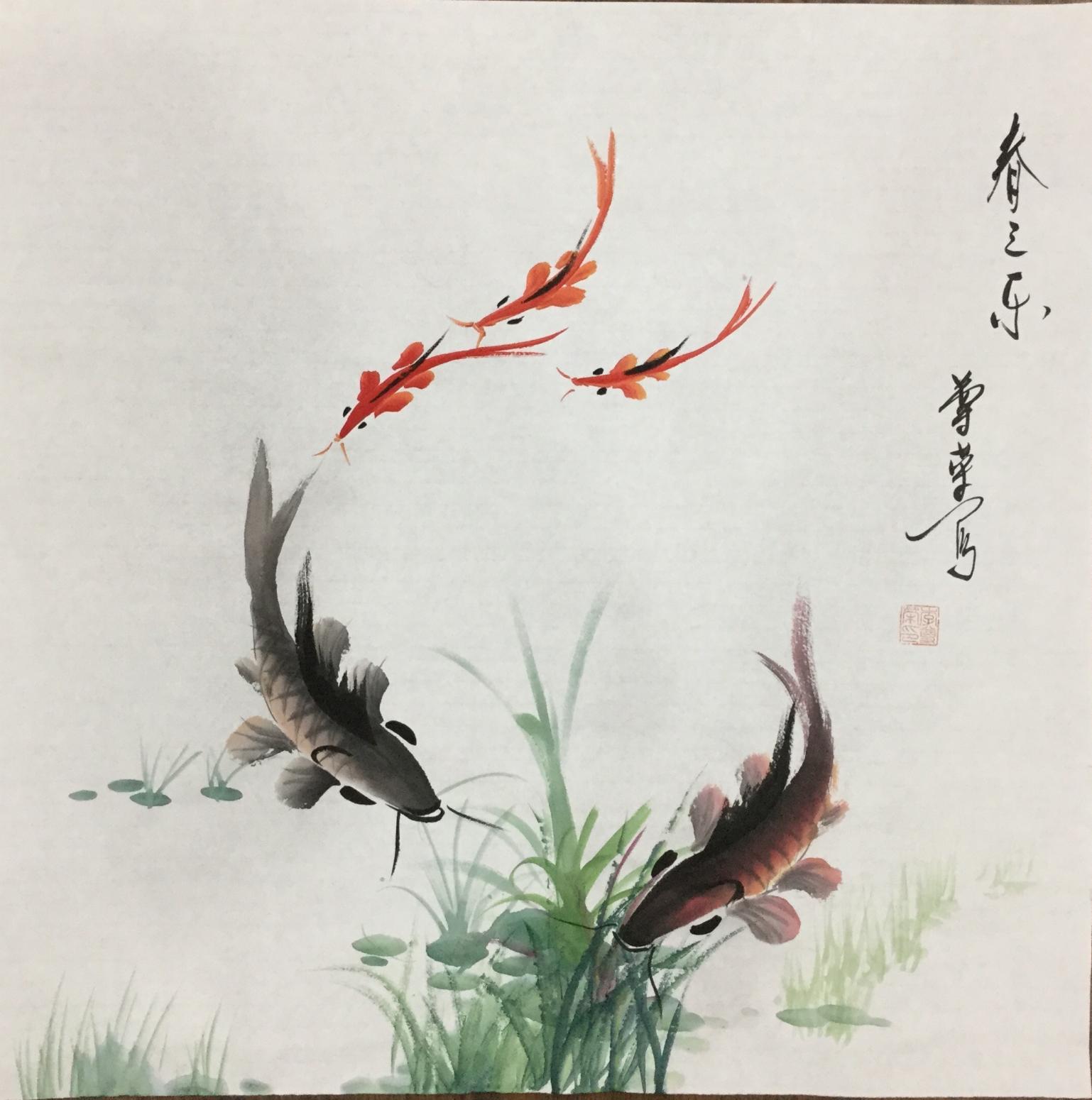李尊荣国画作品《春之乐》