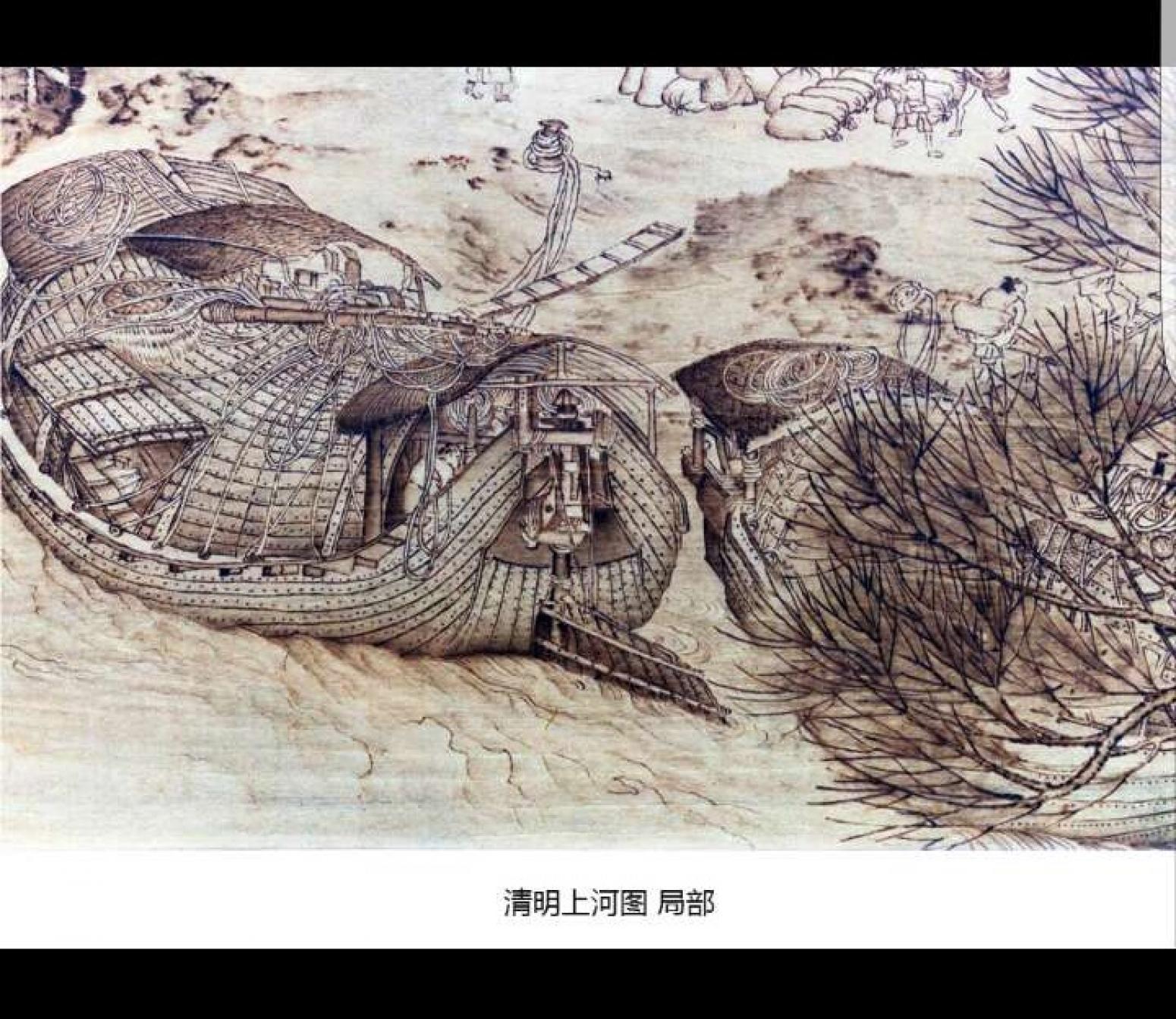 王全战手工作品《烙画-清明上河图局部》
