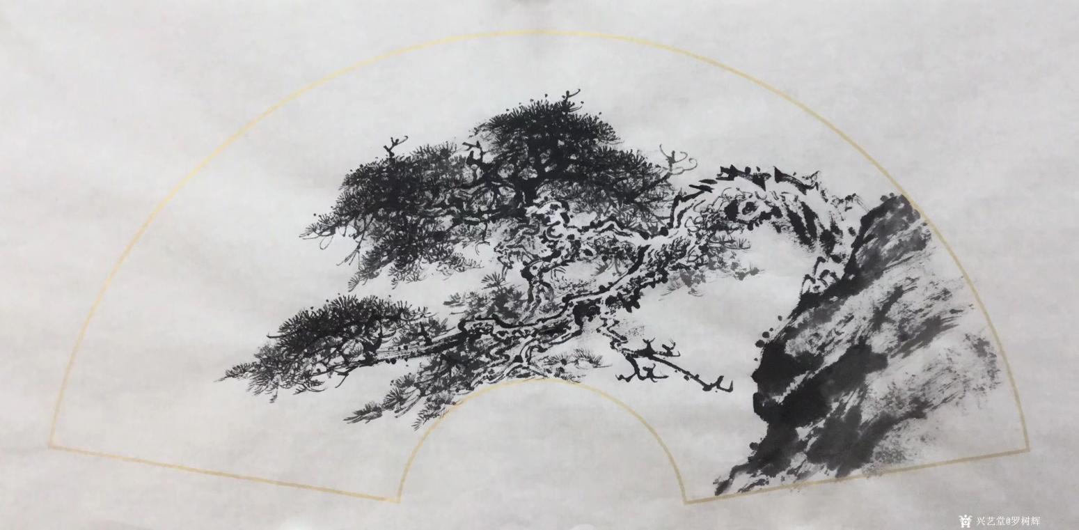 罗树辉国画作品《松树-蛟龙出海》【图2】