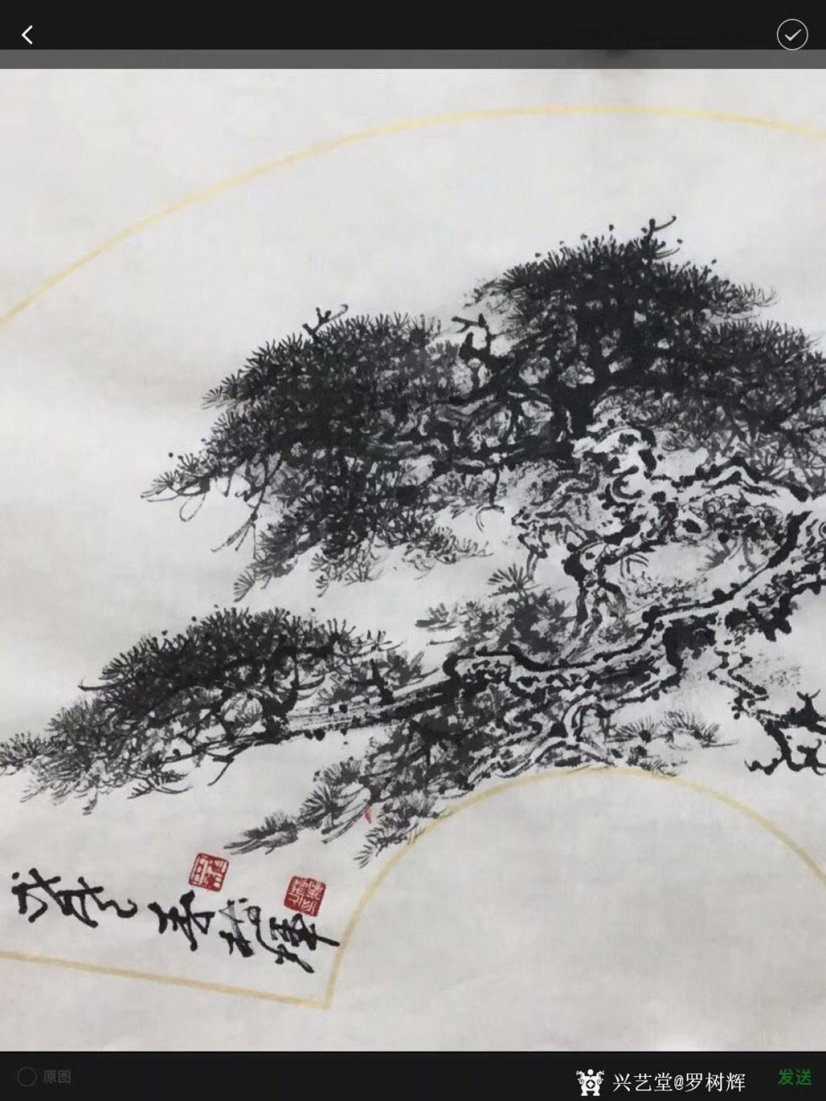 罗树辉国画作品《松树-蛟龙出海》【图3】