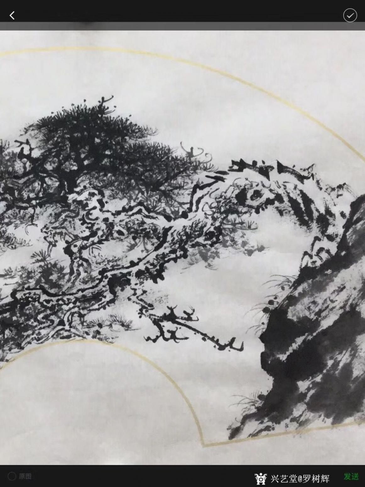 罗树辉国画作品《松树-蛟龙出海》【图4】