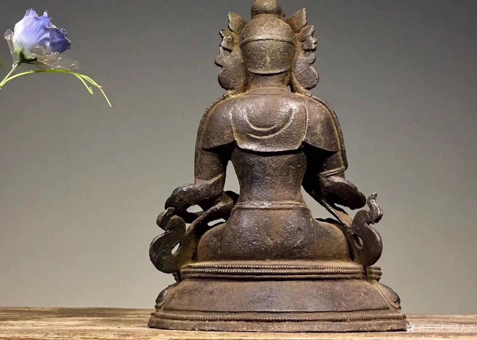 明清古艺雕刻作品《佛像菩萨盘坐》【图1】
