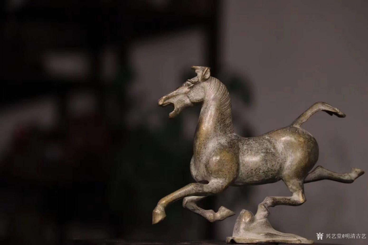 明清古艺雕刻作品《马踏飞燕.铜》【图0】