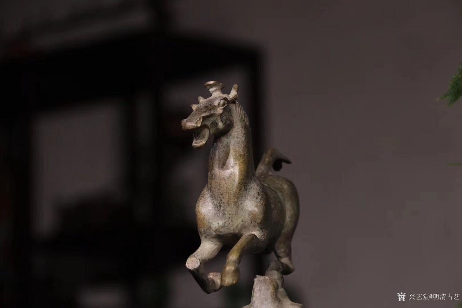 明清古艺雕刻作品《马踏飞燕.铜》【图1】