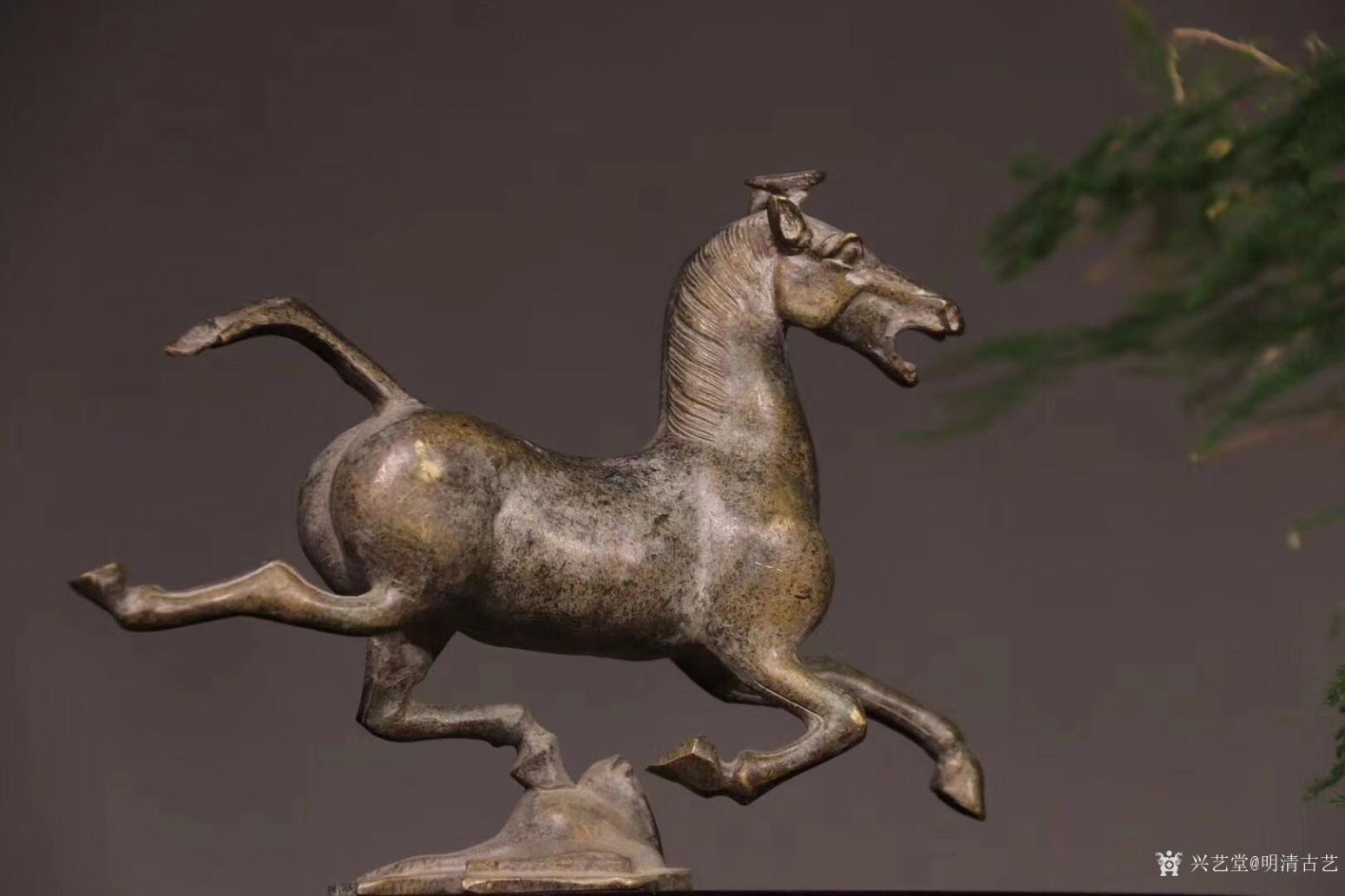 明清古艺雕刻作品《马踏飞燕.铜》【图2】