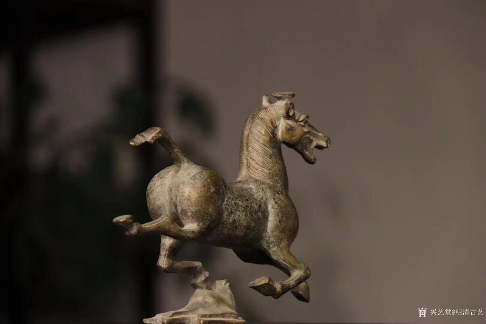 明清古艺雕刻作品《马踏飞燕.铜》【图5】