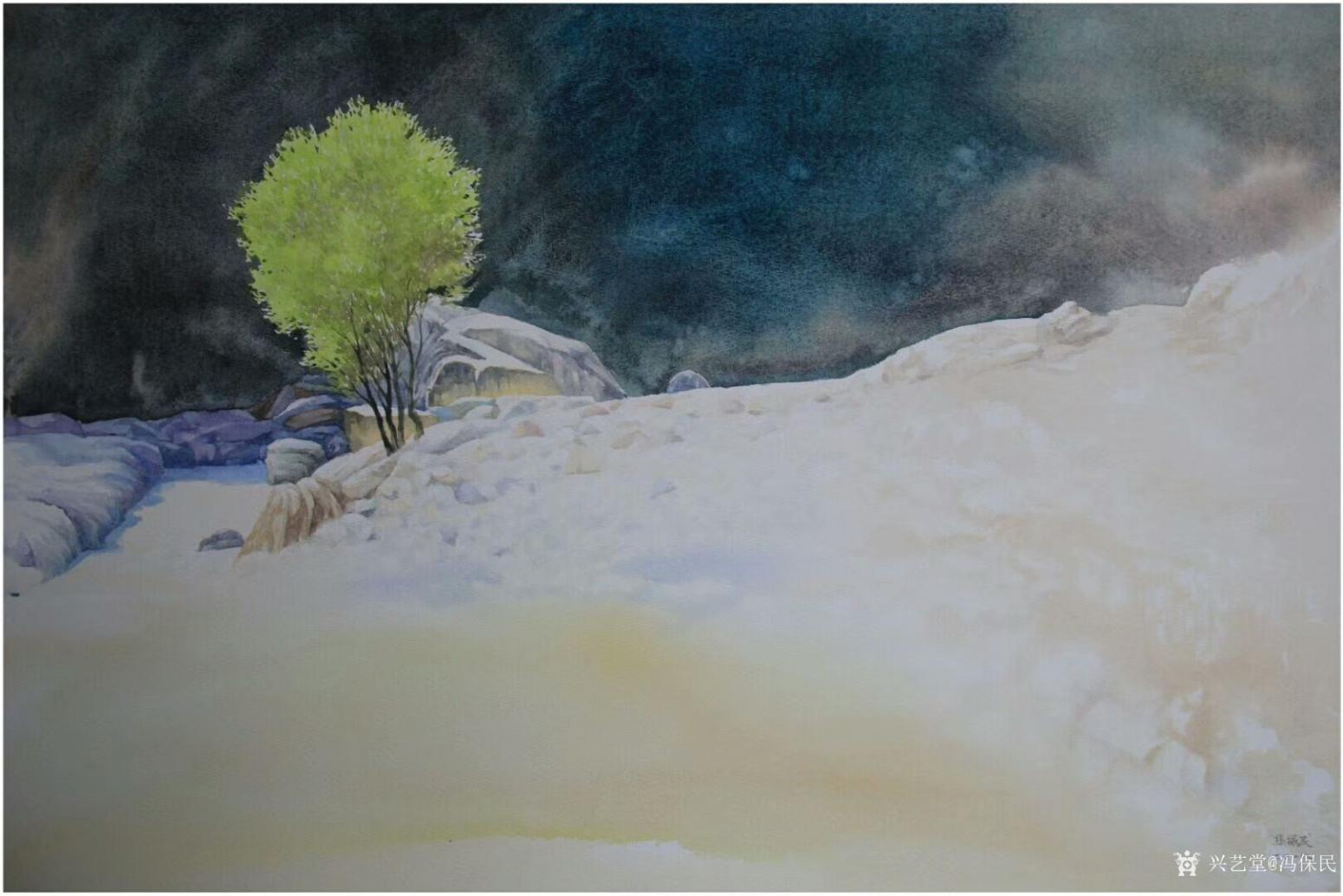 冯保民油画作品《隐居》