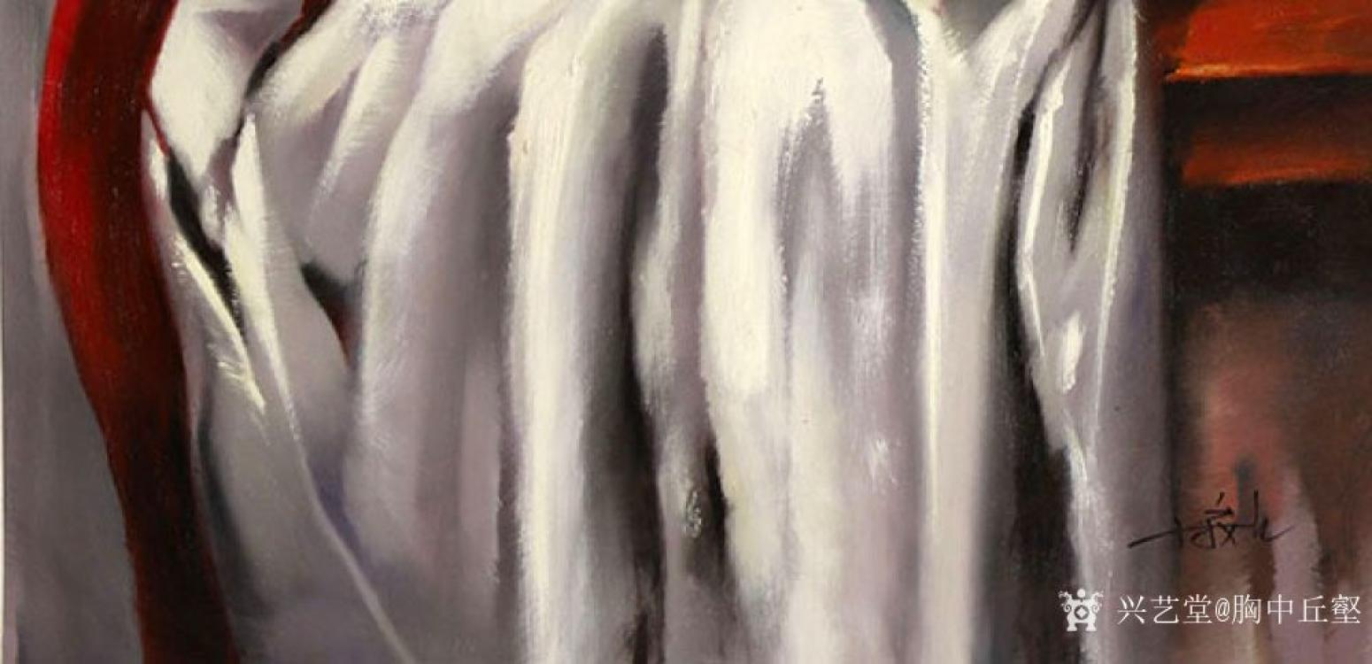 胸中丘壑油画作品《古典静物·花》【图1】