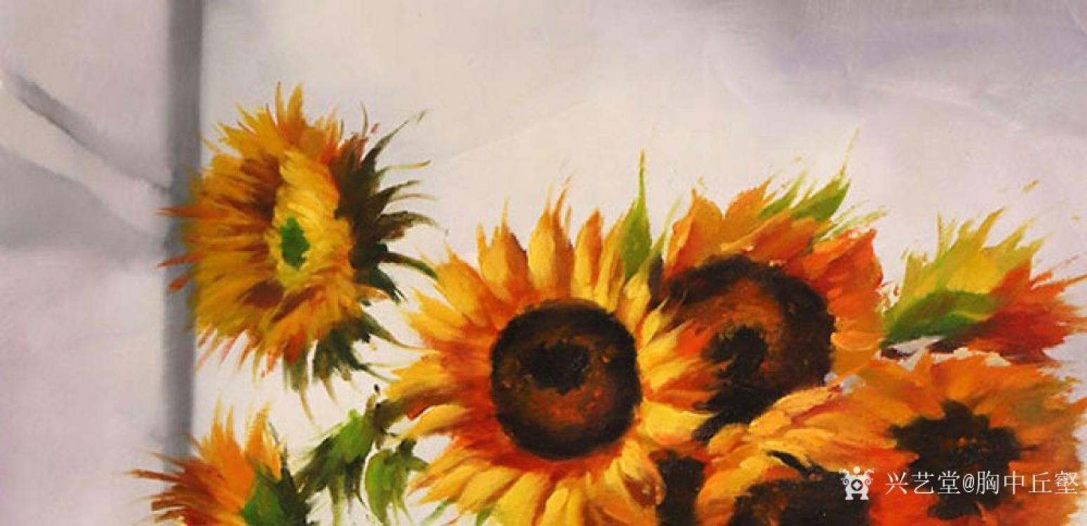 胸中丘壑油画作品《古典静物·花》【图2】