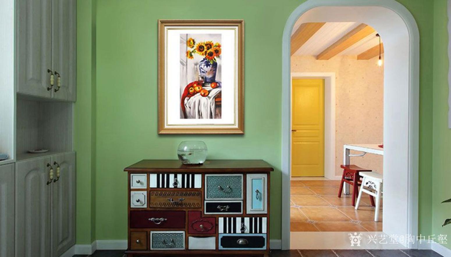 胸中丘壑油画作品《古典静物·花》【图3】