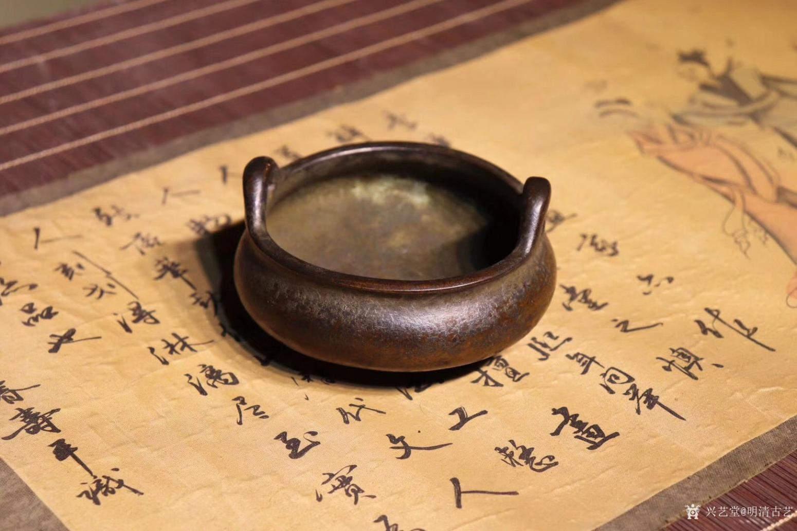 明清古艺文玩杂项作品《崇祯香炉》